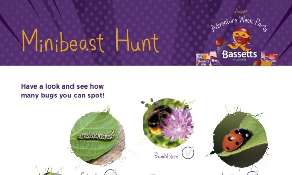 Bassetts Vitamins Party - Minibeast Hunt