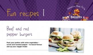 Bassetts Vitamins - Beef & Red Pepper Burgers